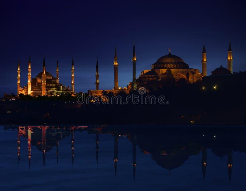 Het Silhouet van Istanboel royalty-vrije stock fotografie