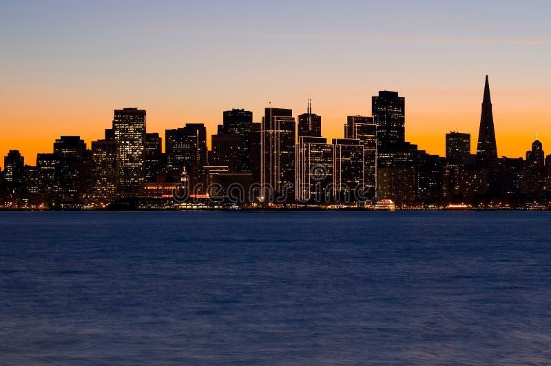 Het silhouet van San Francisco royalty-vrije stock foto's