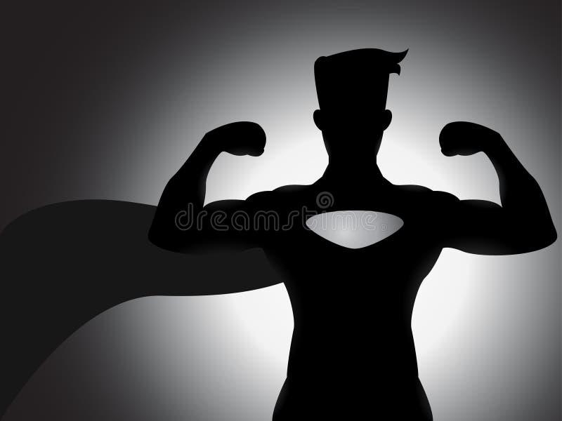 Het Silhouet van Superhero royalty-vrije illustratie