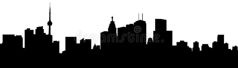 Het Silhouet van Toronto vector illustratie
