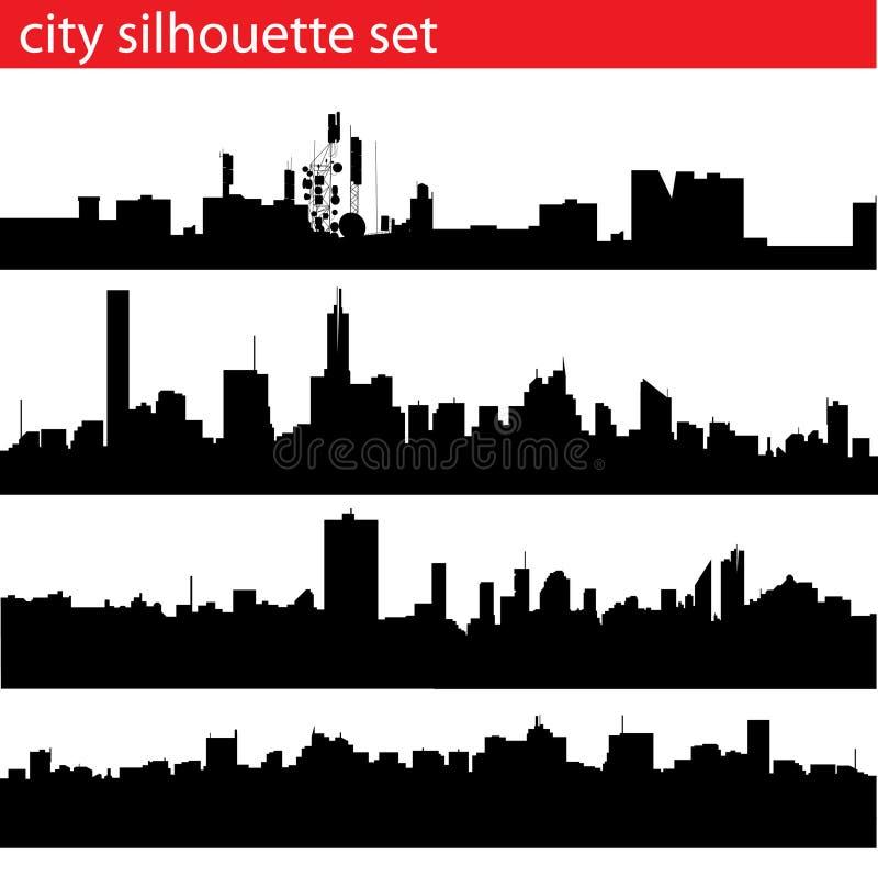 Het silhouetreeks van de stad