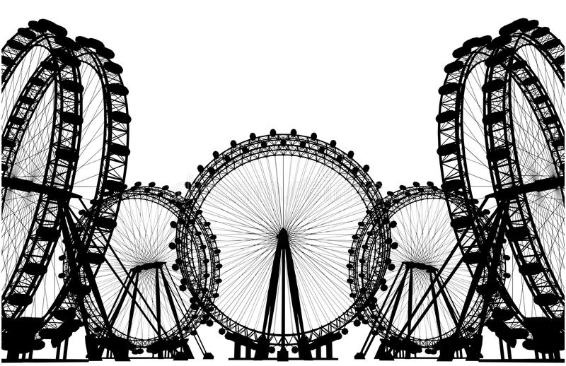 Het Silhouetvector van het carrouselgebied royalty-vrije illustratie