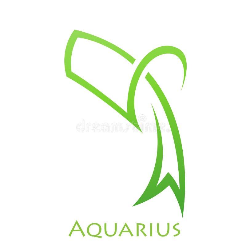 Het simplistische Teken van de de Dierenriemster van Waterman stock illustratie