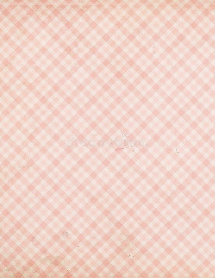 Het sjofele Elegante uitstekende roze patroon van het controlegeruite Schotse wollen stof stock afbeeldingen