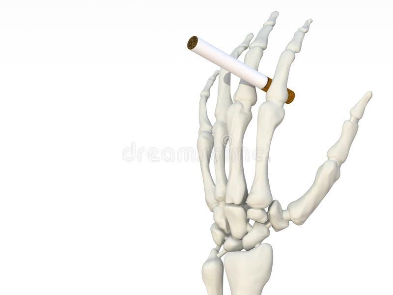 Het Skelet Van De Hand Met Sigaret Stock Illustratie - Illustratie ...