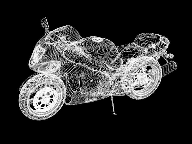 Het skelet van de motorfiets