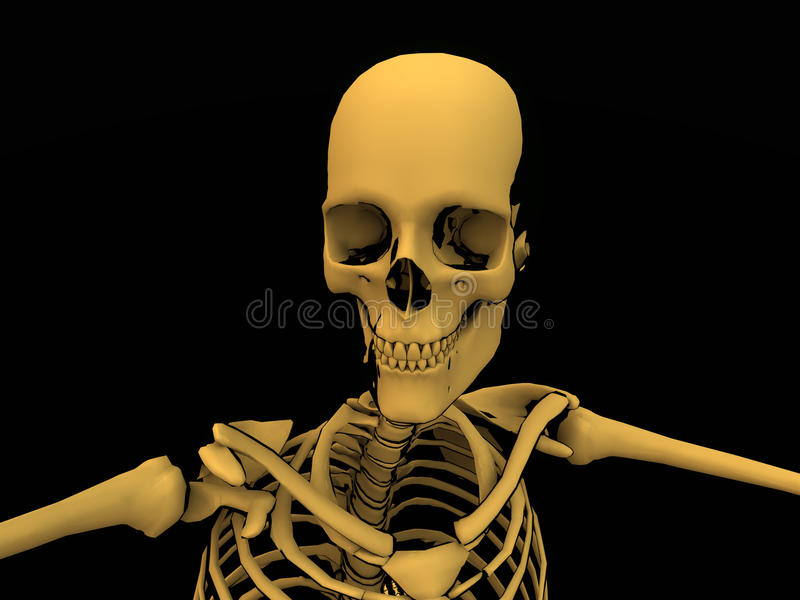 Het Skelet van het beeldverhaal royalty-vrije illustratie