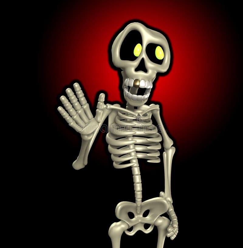 Het Skelet van het beeldverhaal stock illustratie