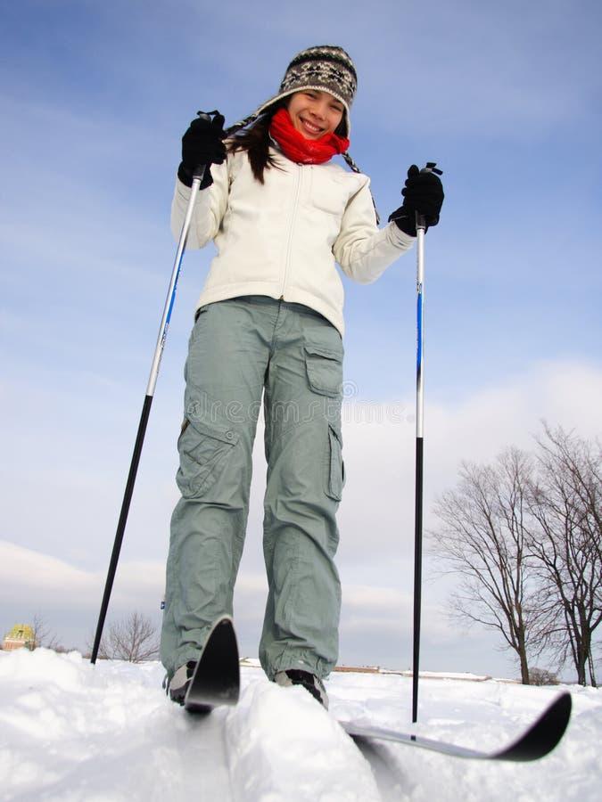 Het skiån in de Stad van Quebec stock afbeeldingen