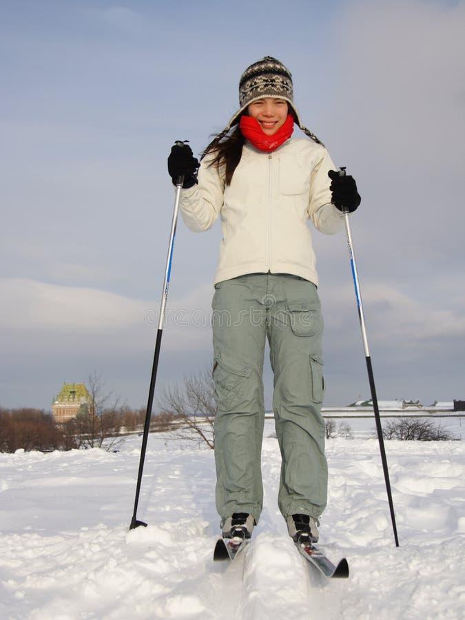 Het skiån in de Stad van Quebec royalty-vrije stock fotografie