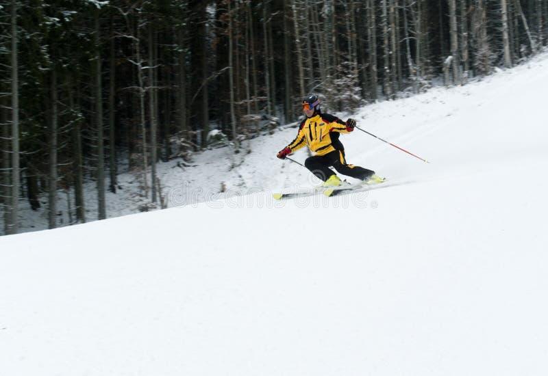 Het ski?en in Bukovel royalty-vrije stock foto