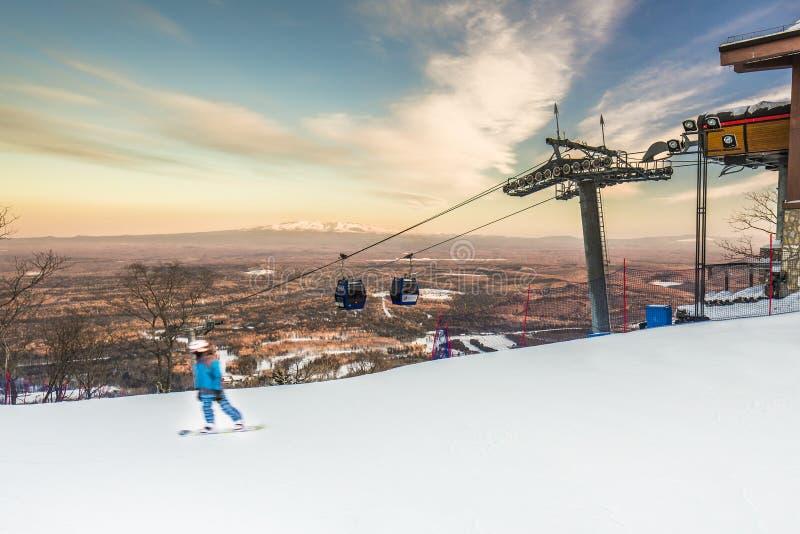 Het ski?en gebied stock foto's
