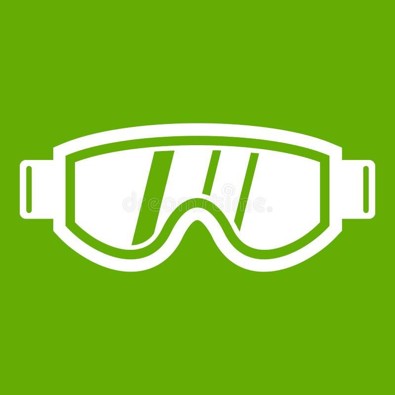 Het ski?en groen maskerpictogram stock illustratie