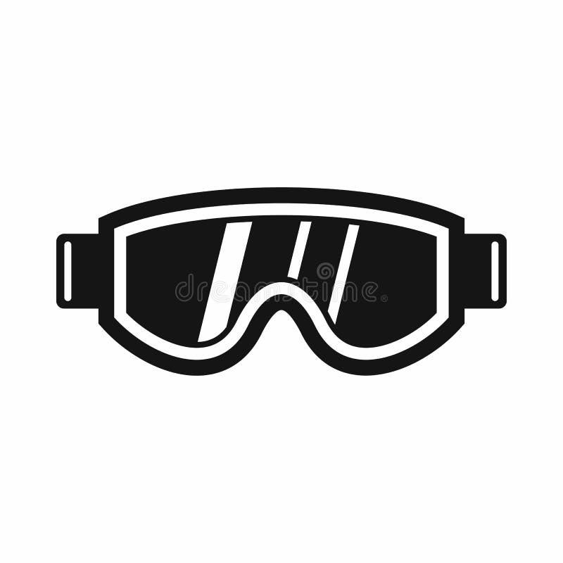 Het ski?en maskerpictogram, eenvoudige stijl vector illustratie