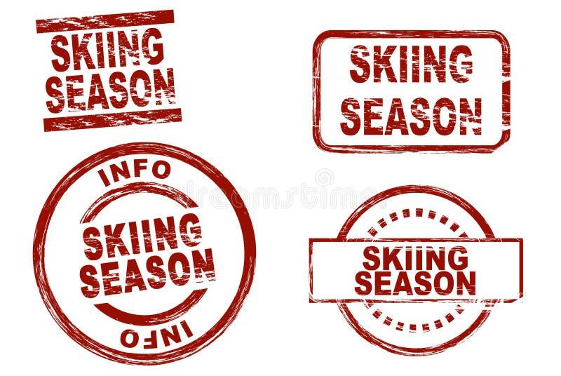 Het ski?en seizoen royalty-vrije stock foto's