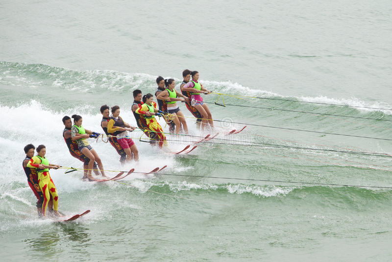 Het ski?en van het water royalty-vrije stock afbeelding
