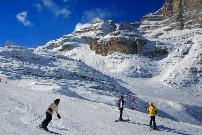 Het skigebied stock foto's