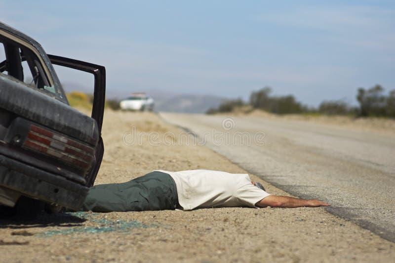 Het Slachtoffer van het autoongeval stock foto
