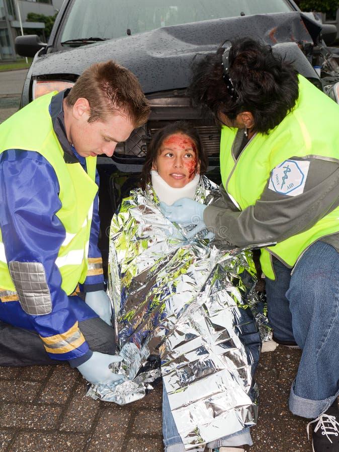 Het slachtoffer van het ongeval royalty-vrije stock afbeeldingen