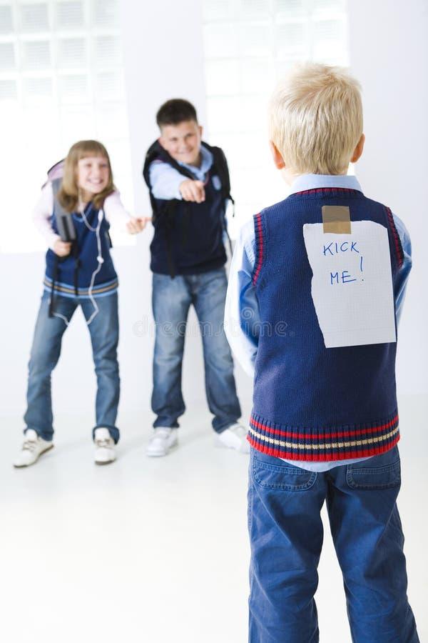 Het slachtoffer van school-grap stock fotografie