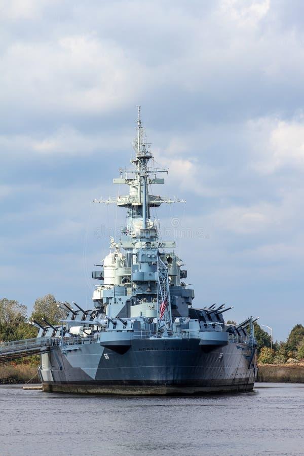 Het Slagschip Noord-Carolina van Verenigde Staten royalty-vrije stock foto