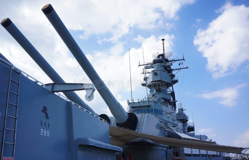 Het Slagschip van USS Missouri stock foto's