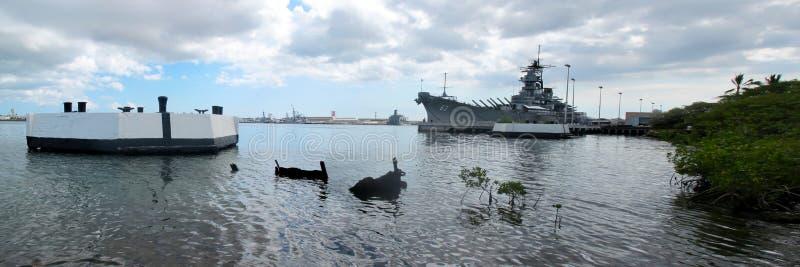 Het Slagschip van USS Missouri - de Schipbreuk van USS Maryland royalty-vrije stock afbeeldingen