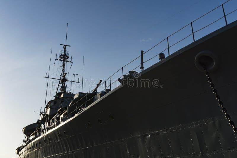 Het slagschipmuseum van HTMS Maeklong stock fotografie