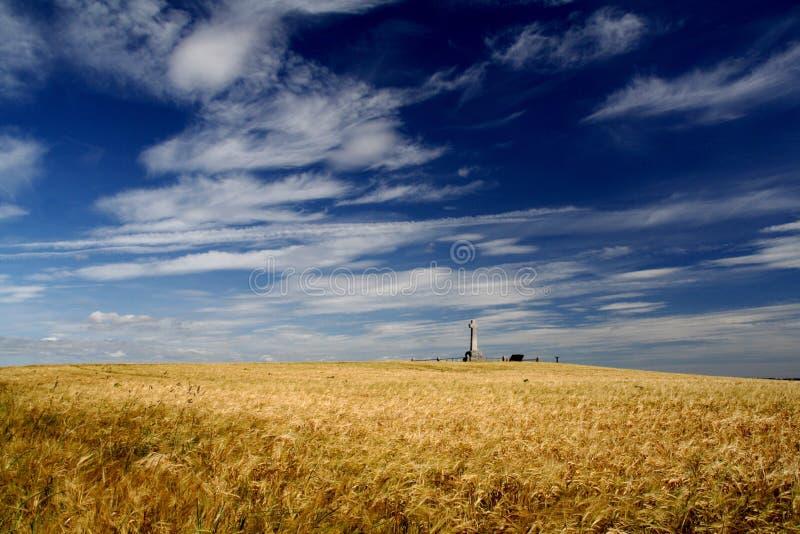 Het slagveld van Flodden stock foto's
