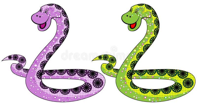 Het slangsymbool in 2013 royalty-vrije illustratie