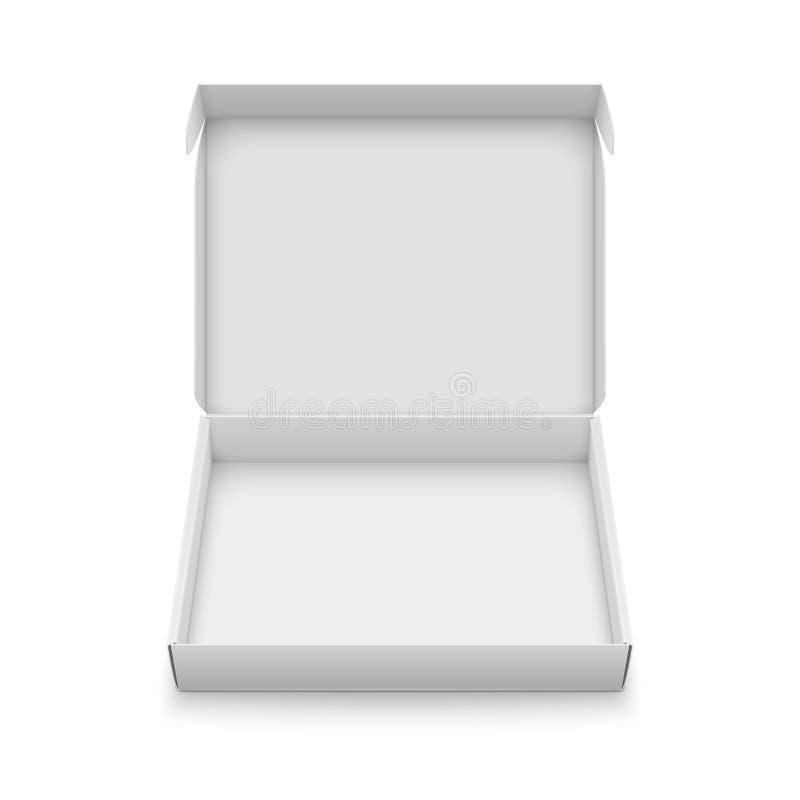 Het slanke malplaatje van de kartondoos royalty-vrije illustratie