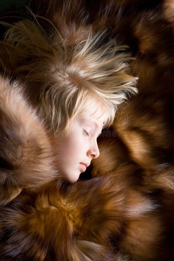 Het slapen girlie royalty-vrije stock fotografie
