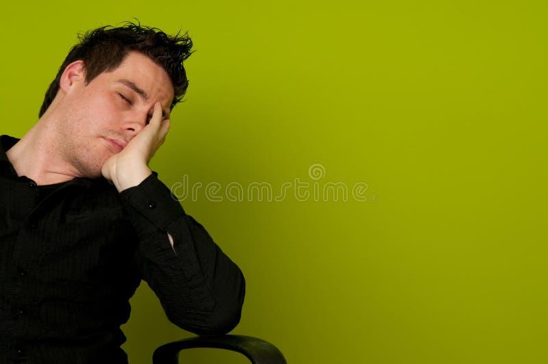 Het slapen op de baan stock afbeeldingen