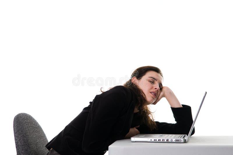 Het slapen op het Werk stock fotografie