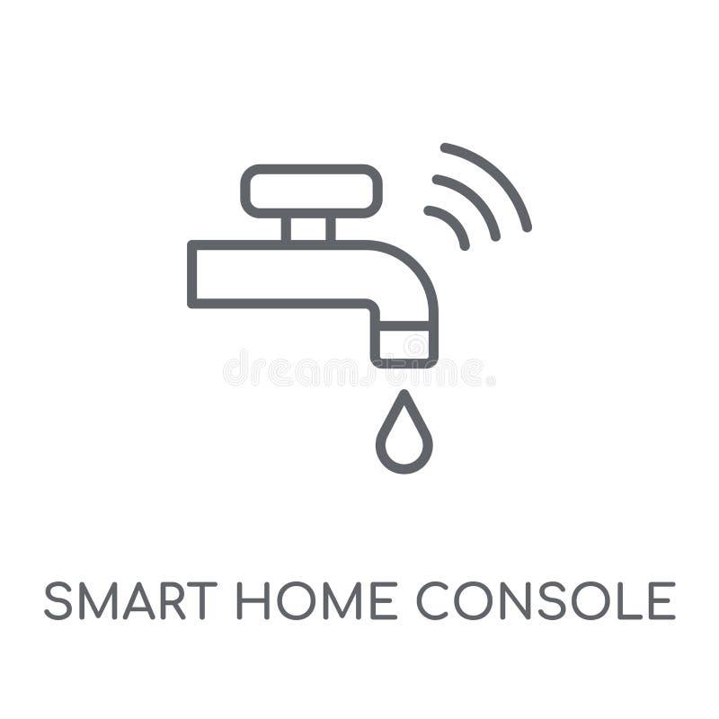 het slimme lineaire pictogram van de huisconsole Modern overzichts slim huis Consol vector illustratie