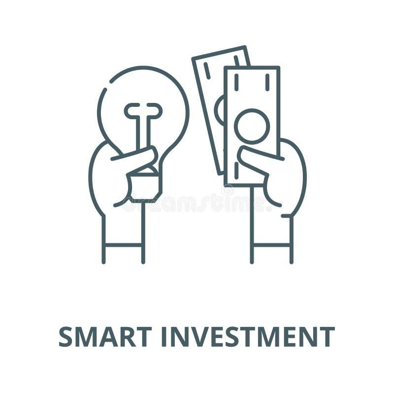 Het slimme pictogram van de investerings vectorlijn, lineair concept, overzichtsteken, symbool vector illustratie
