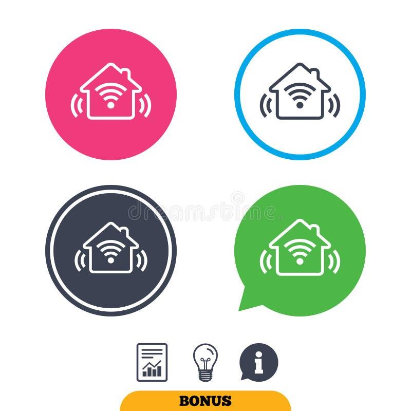 Het slimme pictogram van het huisteken Slimme huisknoop vector illustratie