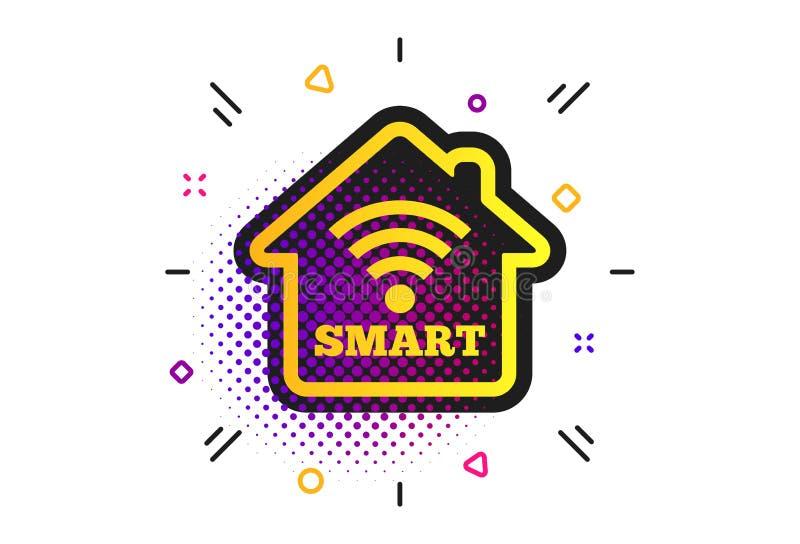 Het slimme pictogram van het huisteken Slimme huisknoop Vector stock illustratie