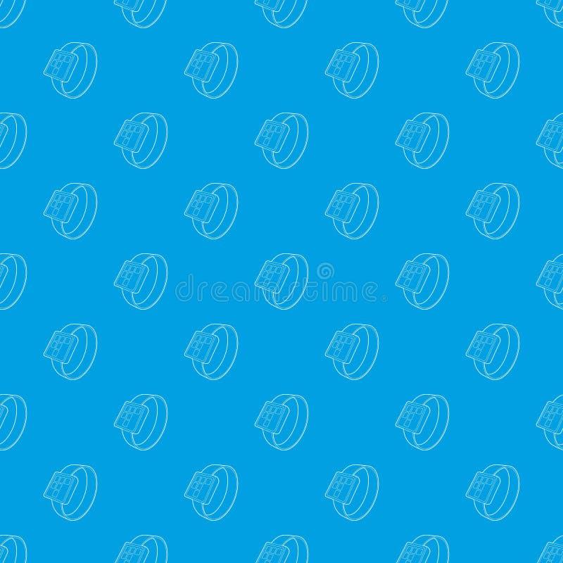 Het slimme vector naadloze blauw van het horlogepatroon vector illustratie