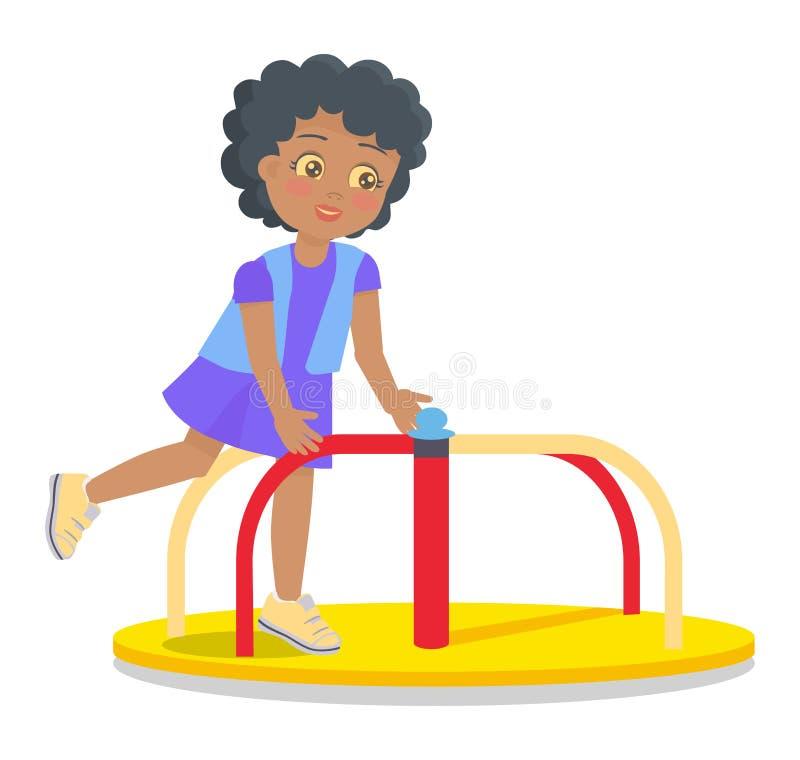 Het slingeren om Carrousel voor Kinderens Speelplaats vector illustratie