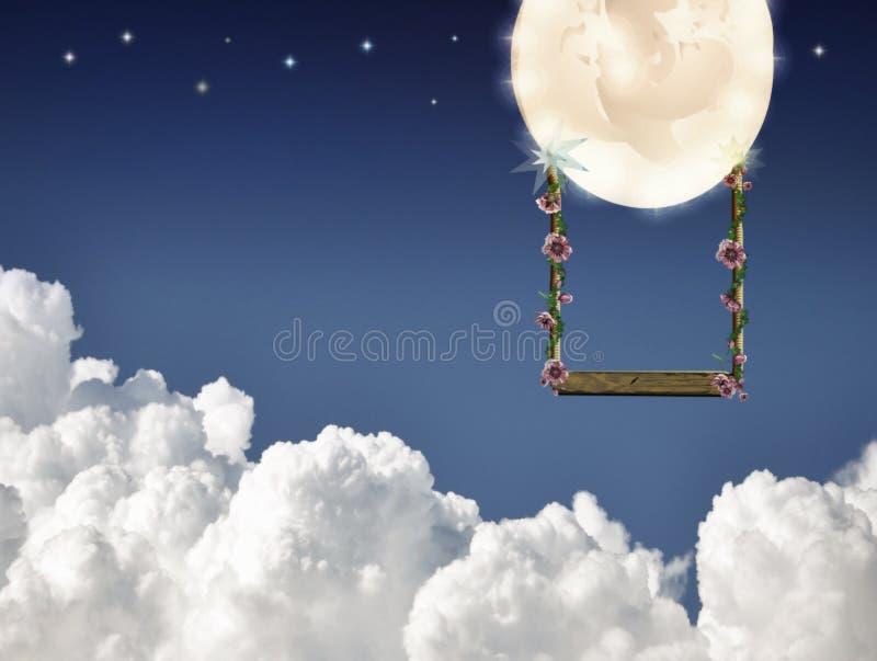 Het slingeren op de maan royalty-vrije stock foto's