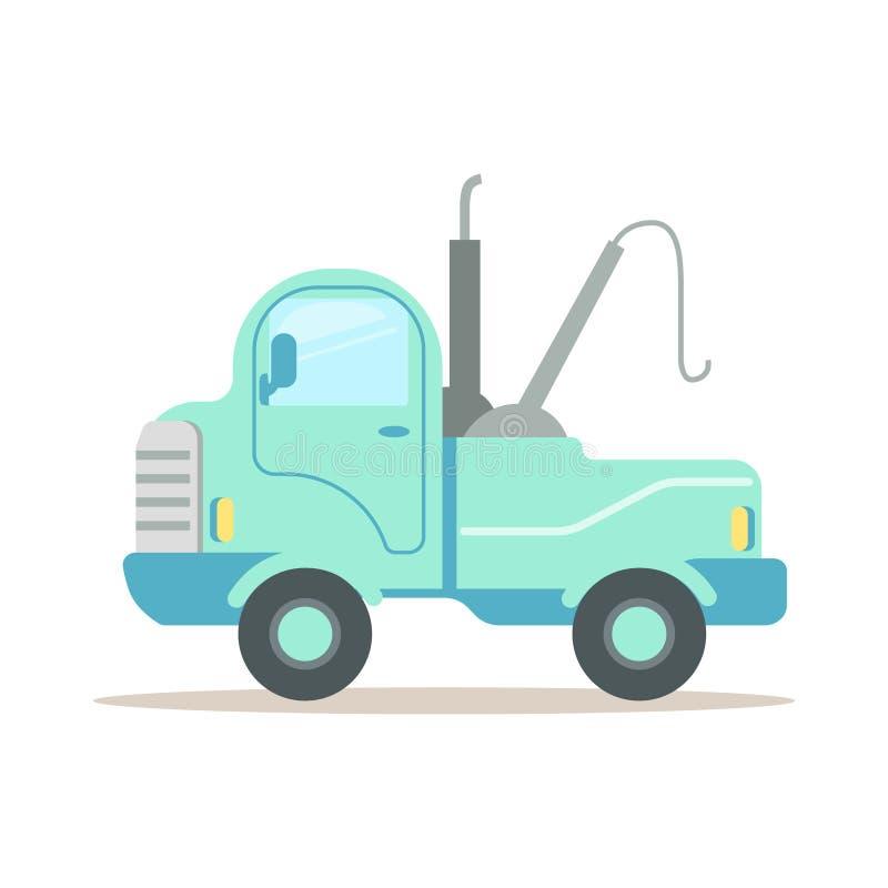 Het slopen van auto, de dienst van vectorillustratie van het evacuatie de kleurrijke beeldverhaal stock illustratie