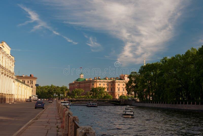 Het slot Mihajlovsky royalty-vrije stock foto's