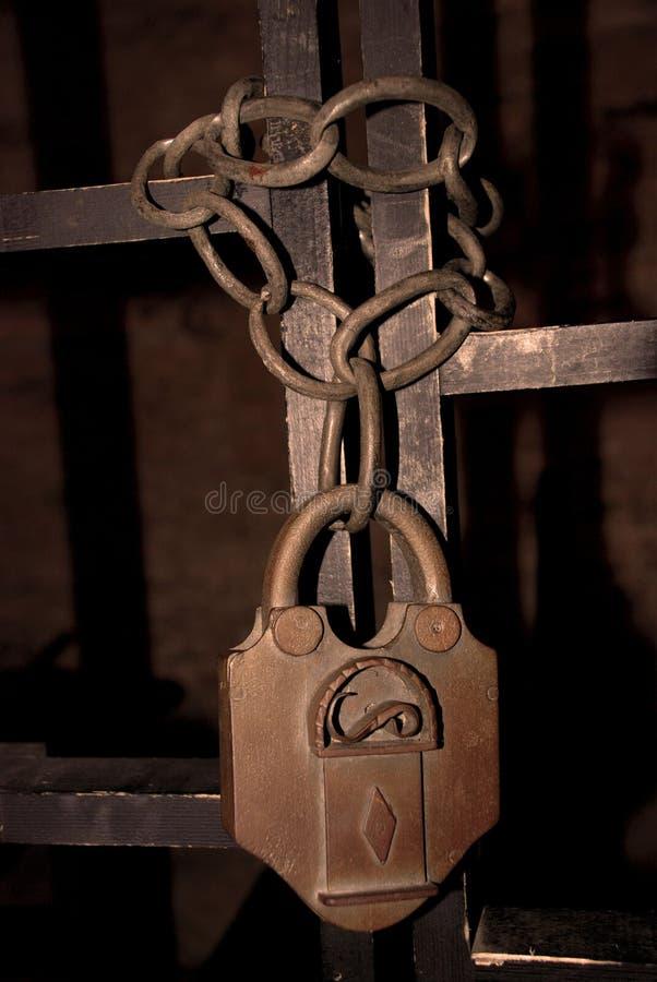 Het slot van de gevangenis stock fotografie