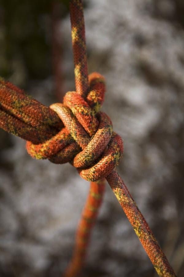 Het Slot van de kabel. De het beklimmen verzekering. royalty-vrije stock foto's