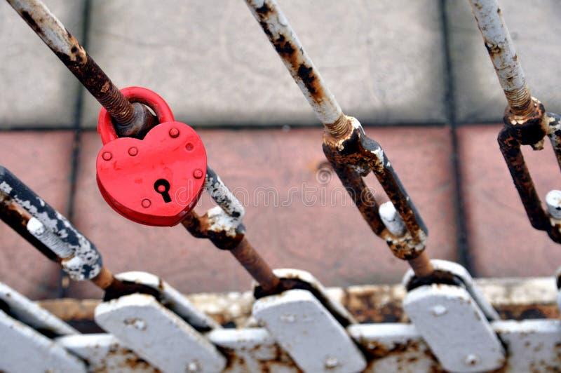 Het slot van de liefde stock afbeelding