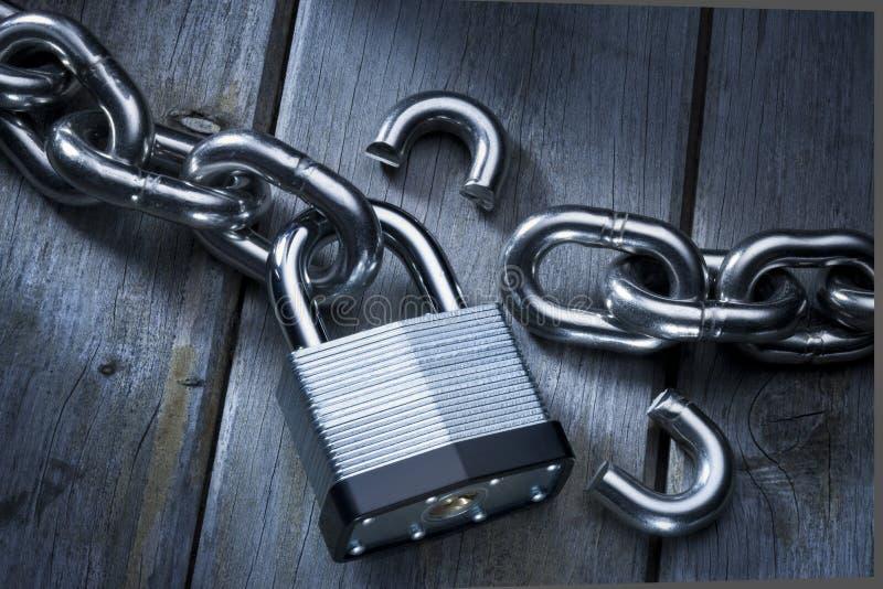 Het Slot van de veiligheid ontbreekt stock foto's