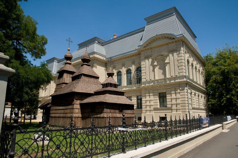 Het Slowaakse museum van het oosten in het ijs van KoÅ ¡ stock fotografie