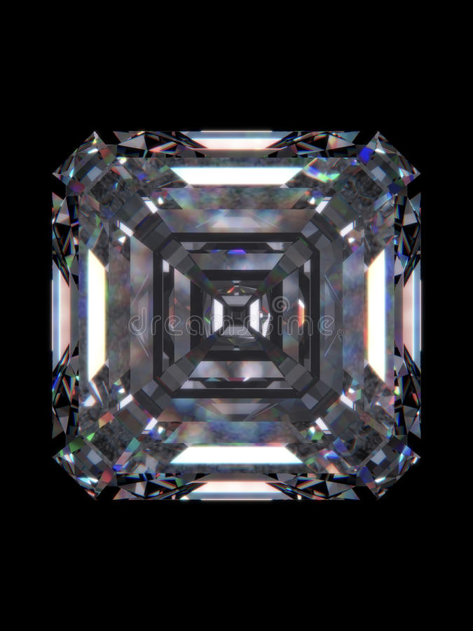Het smaragdgroene vierkant van de diamant vector illustratie