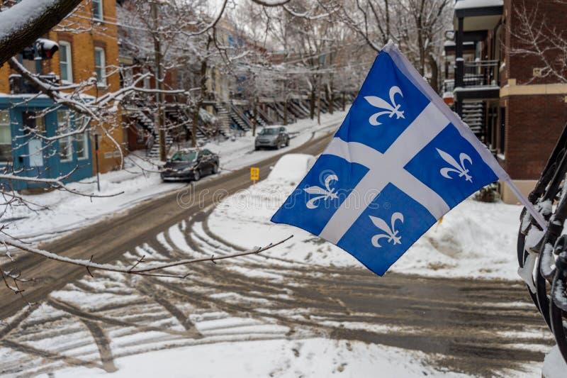 Het sneeuwonweer raakt Montreal, Canada stock fotografie